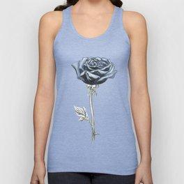Rose 03b Botanical Flower * Blue Black Rose Unisex Tank Top