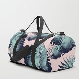 Fan Palm Leaves Paradise #8 #tropical #decor #art #society6 Duffle Bag