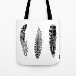 Feather Trio | Black and White Tote Bag