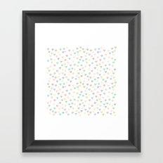 Candy Hearts Framed Art Print