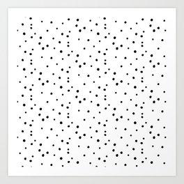 Dalmatian Polka Dots - White/Black Art Print