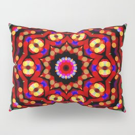 Kaleidoscope Christmas Bokeh Light Trails Pillow Sham