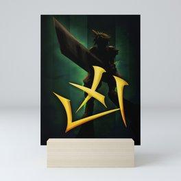 Cross slash FFVII Mini Art Print