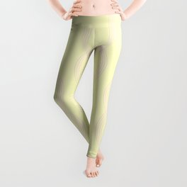 Simply Infinity Link Pink Flamingo on Pale Yellow Leggings