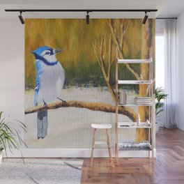 Elegance Blue Jay | Élégance geai bleu Wall Mural