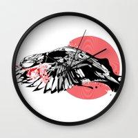 hustle Wall Clocks featuring hustle by KUI29