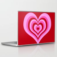 powerpuff girls Laptop & iPad Skins featuring powerpuff hearts by tukylampkin