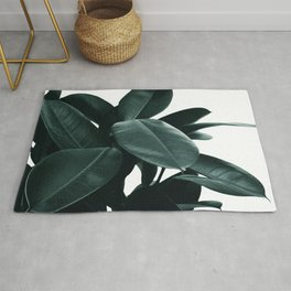 Dark Green Rubber Plant Rug