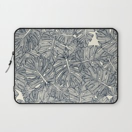 monstera leaves pearl Laptop Sleeve