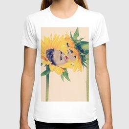 Quiverish Sunflower Kiss 2 - Erotic Collage Art T-shirt