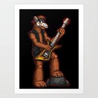 Heavy metal ALF Art Print