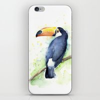 toucan iPhone & iPod Skins featuring Toucan by Olechka