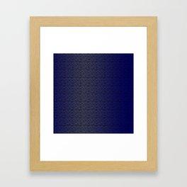 Binary Blue Framed Art Print