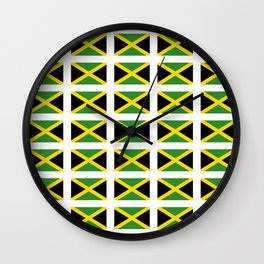 Flag of Jamaica 2-Jamaican,Bob Marley,Reggae,rastafari,cannabis,ganja,america,south america,ragga Wall Clock