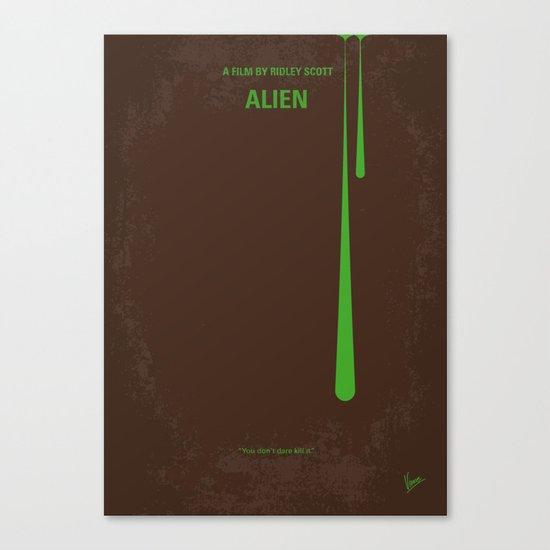 No004 My Alien minimal movie poster Canvas Print