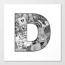 Cutout Letter D Canvas Print