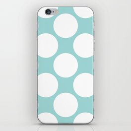 Polka Dots Blue iPhone Skin