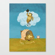 What bears dream of Canvas Print