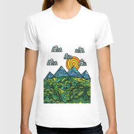 sun, mountain & hills T-shirt