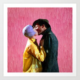 Singin' in the Rain - Pink Art Print