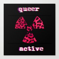 queer Canvas Prints featuring Queer Active by Stranger In Parts