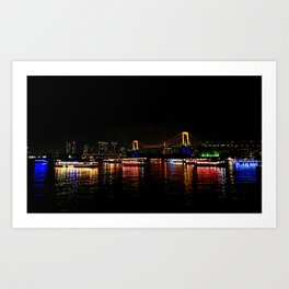 Rainbow Bridge (Odaiba) Art Print