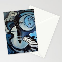 Black & Bleu Stationery Cards
