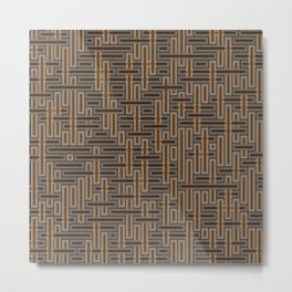 Crosshatched Metal Print