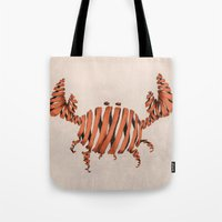 crab Tote Bags featuring Crab by Claire.H