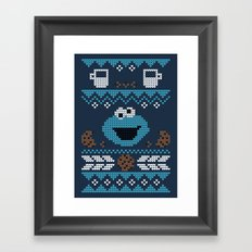 C is for Cookie! Framed Art Print