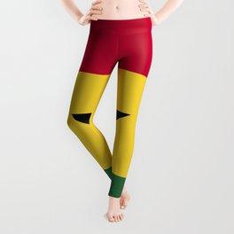 Ghana flag emblem Leggings