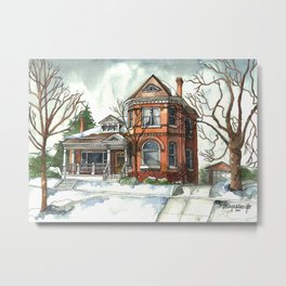 Victorian House in The Avenues Metal Print