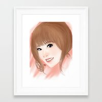 snsd Framed Art Prints featuring Mariko by Sheree Tampus