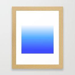 Aqua Ombre Framed Art Print