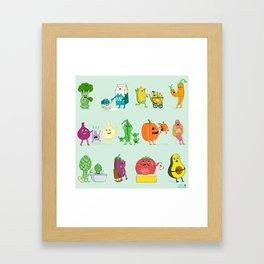 Baby Veggies Framed Art Print