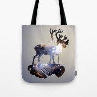 reindeer Tote Bags featuring Reindeer by infloence