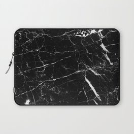 Black and White Marble Laptop Sleeve
