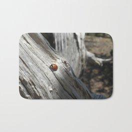 Ladybug on Driftwood Bath Mat