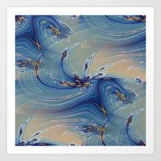 Fractal Flash Splash Art Print