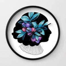 Blueberry Essence Wall Clock