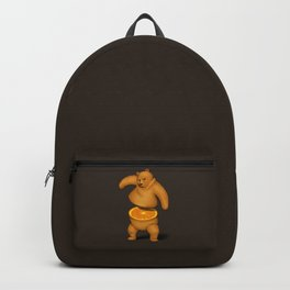 Orange Bear Backpack