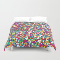 crystal Duvet Covers featuring Crystal by Simon C Page