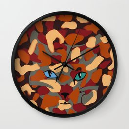 CamoKitty Wall Clock