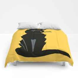 Art Deco Vintage Black Cat Comforters