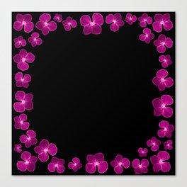 Magenta Flower Chain Canvas Print