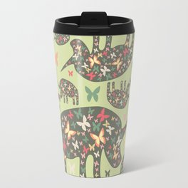 Rhinos Pattern Travel Mug