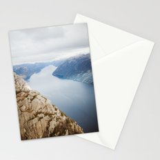 Lysefjord, Norway in Winter Stationery Cards