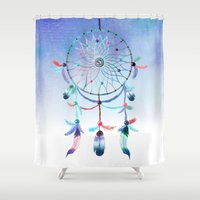 dream catcher Shower Curtains featuring Dream Catcher by Find a Gift Now