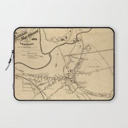 Vintage Battle of Concord Map (1875) Laptop Sleeve