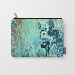 Aqua Flow Abstract Carry-All Pouch